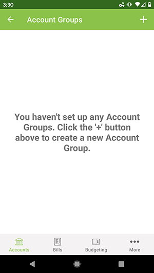 ClearCheckbook Android App - Add an Account Group