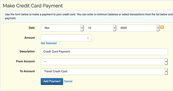 Credit Card Payment tool - Make Payment form