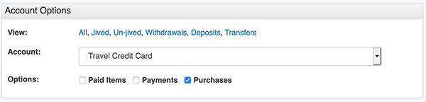 Credit Card Payment tool - Make Payment - Select Purchases option