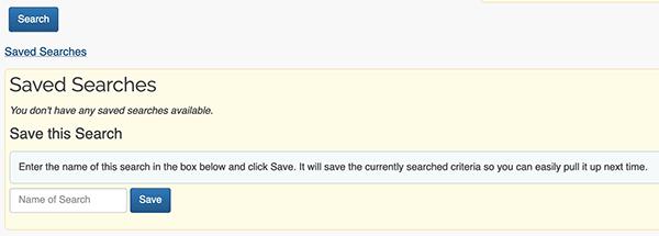 Search Tool - Saving Search Criteria