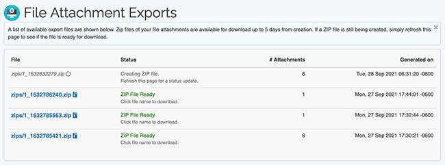 Search Tool - ZIP File List w/ Pending file
