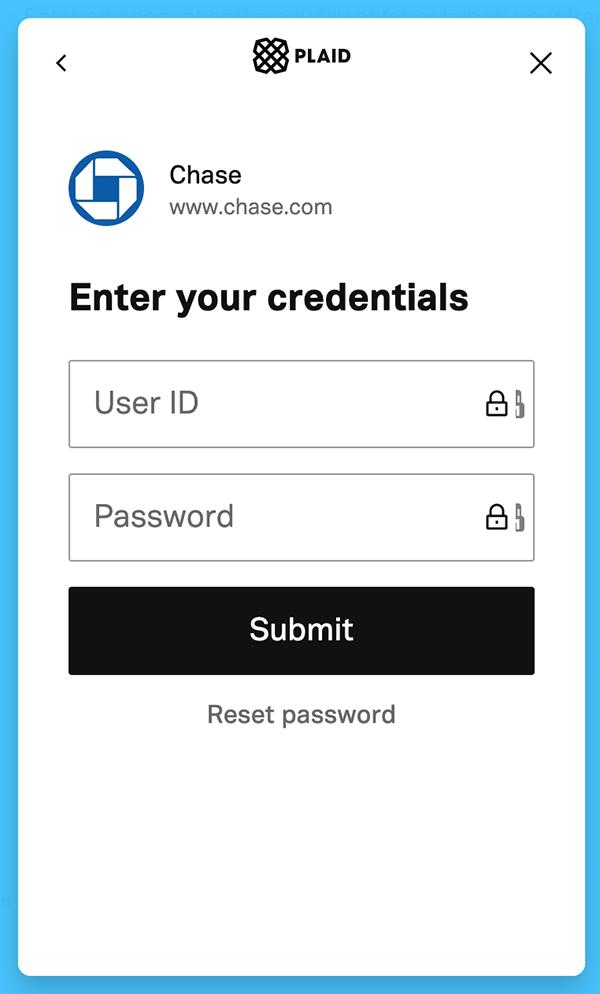 Syncing Transactions - Enter your login details