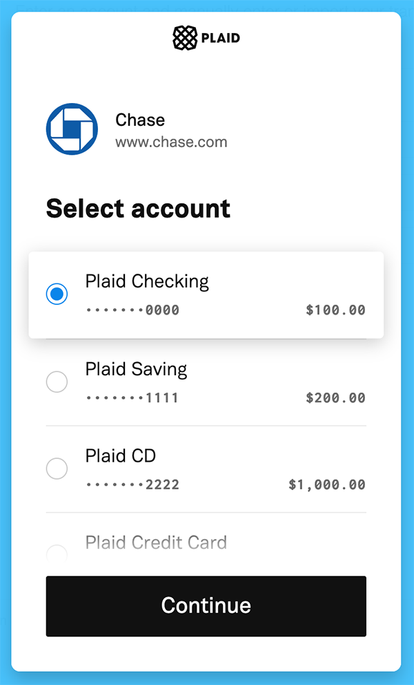 Syncing Transactions - Pick your account