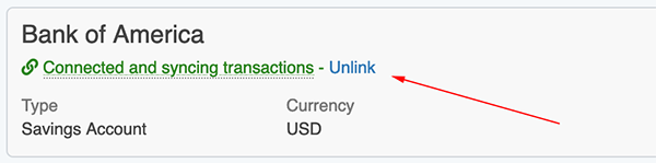Syncing Transactions - Unlinking an account
