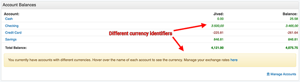 Transaction Register - Multiple Currencies in Account Balances