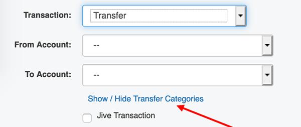 Categorizing a Transfer Transaction