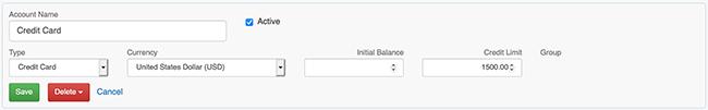 Account Settings - Edit an Account form