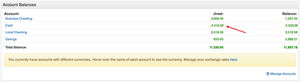 Currency Conversion Settings - Different currencies in Account Balances