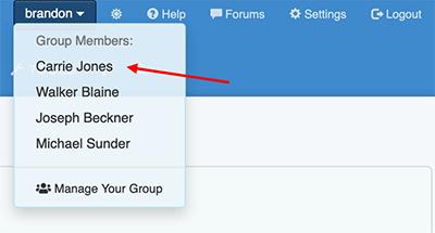 Premium Group Membership - Select a group member