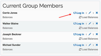 Premium Group Membership - Switch to a group member account