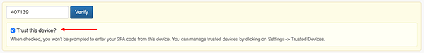 Trusted Device Settings - Add a Trusted Device from 2FA prompt
