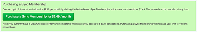 Sync Membership - Signup Button