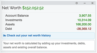 Asset Management - Net Worth Gadget