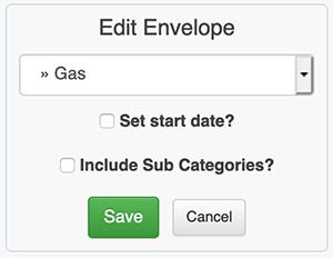 Envelope Budget - Edit a Budget