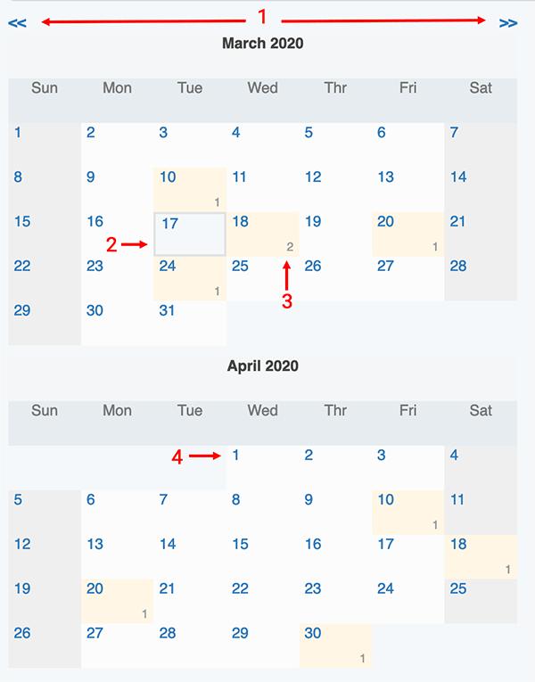 Reminders / Recurring Transactions - Calendar